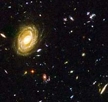 A closeup from the Hubble Ultra Deep Field