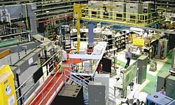 Argonne National Lab's Intense Pulsed Neutron Source (IPNS) experimental area (photo courtesy of Argonne National Laboratory