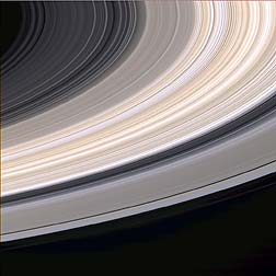 The large gap is the Cassini Division. (Image courtesy of NASA)