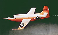 The rocket-powered Bell X-1