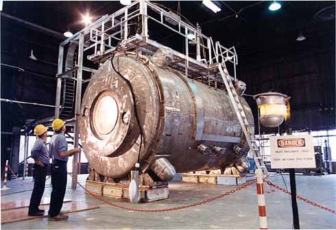 200-ton superconducting magnet built at Argonne National Laboratory as part of a project to investigate power generation from fusion