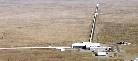 The gravity wave detector at Hanford , Washington.