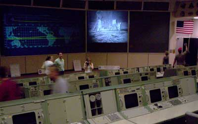 Old Mission Control from where they controlled the Gemini, Apollo and Shuttle missions before they moved to the modern day MC.