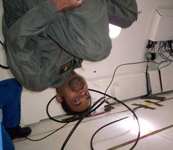 Doing somersaults in Zero-G.