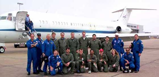 Our after flight picture with the crew and researchers.
