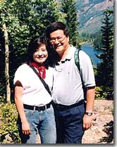 Terence Hwa hiking with wife Joyce near Aspen