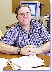 David Stevenson in his office.