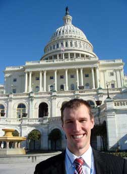 Ben at the Capital Building in Washington DC