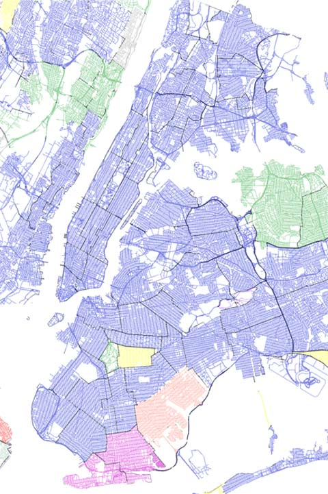 New York Geo-Tagged Tweets by Language