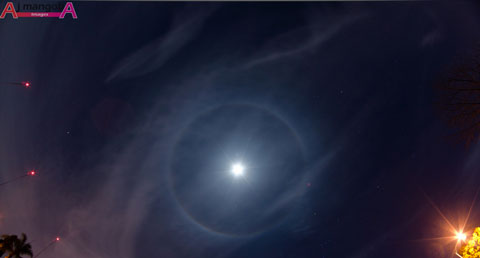 An example of the Moon's halo