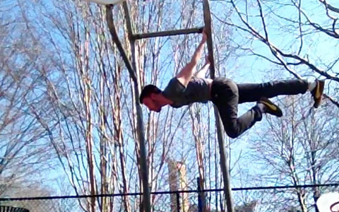 One Leg Back Lever