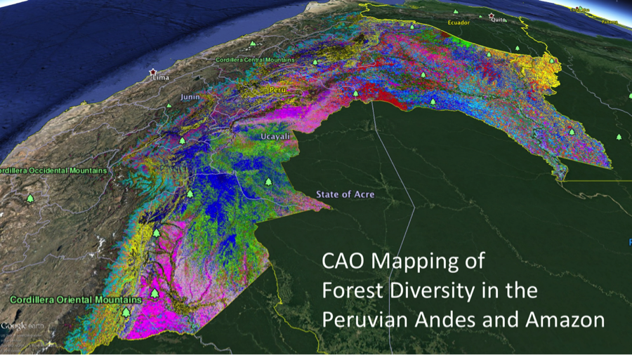 CAO mapping of forest diversity in the Peruvian Andes & Amazon