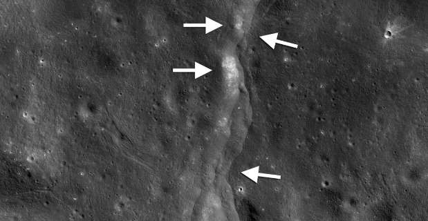 Faults on the moon.