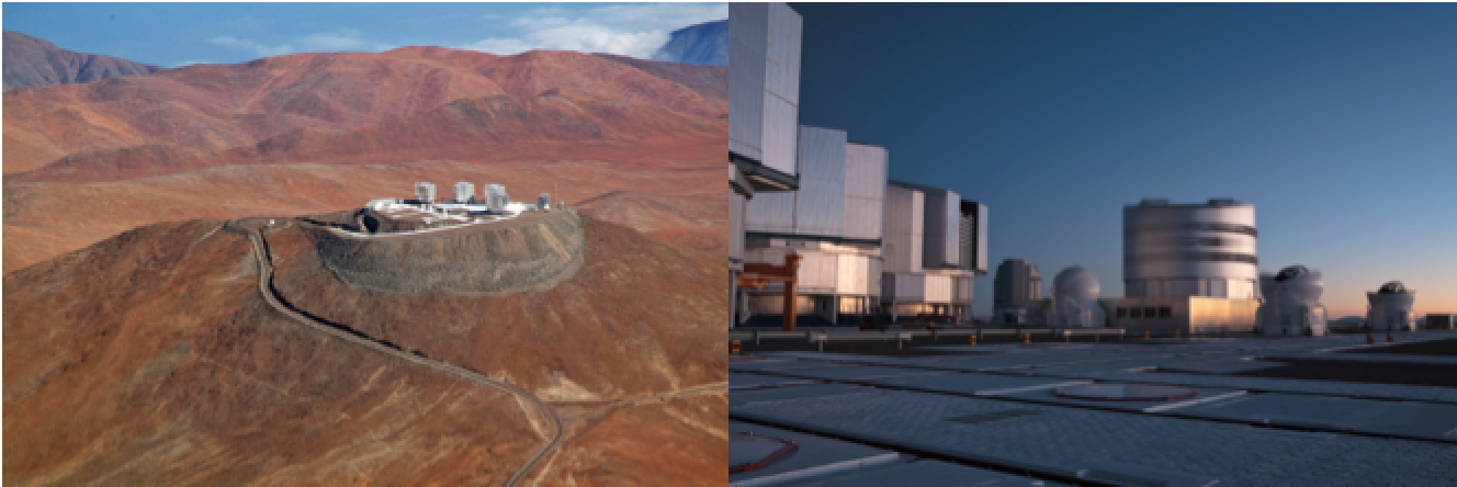The Very Large Telescope, located at the European Space Organization's Cerro Paranal Observatory in Chile