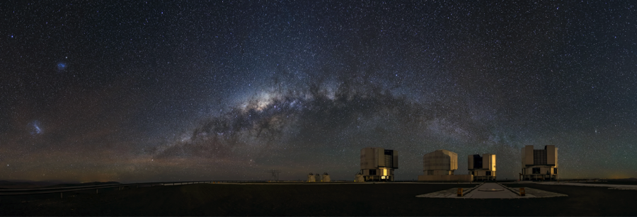 The Very Large Telescope against the backdrop of the Milky Way